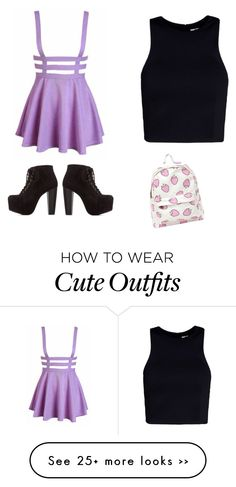 """Not So School, School Outfit"" by melaniasiuhengalu on Polyvore"
