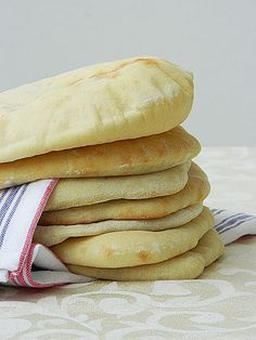 Dr. Ola's Kitchen: Pita Bread recipe. My favorite recipe! I use these for eating home made hummus om nom nom