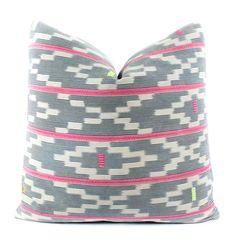 African Baule Cloth Pillow Cover, Boho Pillow, Textile, Ethnic, Vintage, Handwoven, Indigo, Geometric, 22x22, SKU051820