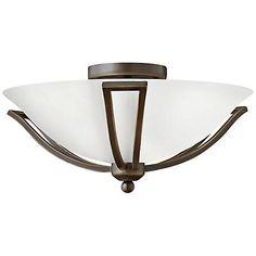 """Hinkley Bolla 16 3/4"""" High Olde Bronze Opal Ceiling Light 8K367"""