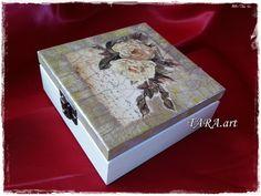 Decoupage jewelry box wooden jewellery holder by LaverdureStudio
