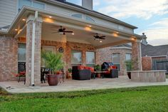 Patio Deck in Cypress, TX - HHI Patio Decks While historical throughout concept, a pergola Backyard Covered Patios, Covered Patio Design, Covered Decks, Covered Back Patio, Covered Porches, Backyard Patio Designs, Backyard Ideas, Pergola Designs, Patio Roof