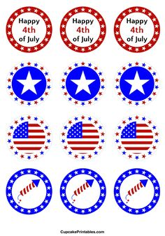 http://cupcakeprintables.com/toppers/4th-of-july-cupcake-toppers/
