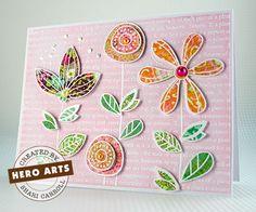 Create layered flowers using your favorite pattern paper scraps. #HeroArts