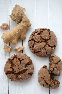Barefoot Contessa's Ultimate Ginger Cookies. Dip half the cookie in chocolate = extra awesome.