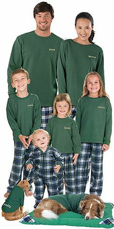 PajamaGram Flannel Tartan Plaid Matching Family Pajama Set ccb540b32
