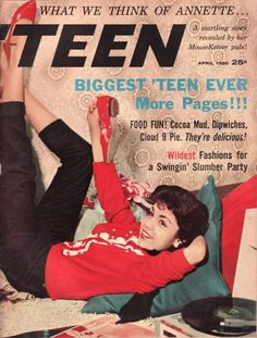 TEEN Magazine featuring Annette Funicello'/April 1960