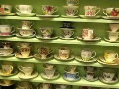 PRETTIEST VINTAGE TEACUPS! Sets and trios, so many pretty finds www.heyjudesbarn.co.za Vintage Teacups, Tea Cups, Mugs, Tableware, Pretty, Vintage Tea Cups, Dinnerware, Tumblers, Tablewares