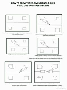 The Helpful Art Teacher: Fun with one point perspective boxes and other geometri… 1 Point Perspective, Perspective Drawing Lessons, Perspective Room, Perspective Images, Middle School Art, Art School, High School, Classe D'art, Art Handouts