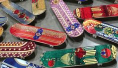 Skateboards with prayer rugs by Mounir Fatmi at UNTITLED art fair, Miami – Florida » Retail Design Blog