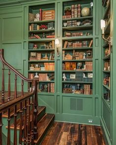 Awesome Wes Anderson Decor Ideas 111 – Home Office Design Vintage Dream Home Design, My Dream Home, House Design, Cottage Design, Cottage Style, Casa Loft, Home Libraries, Aesthetic Rooms, House Goals