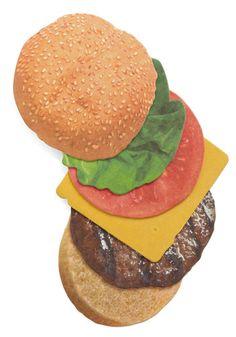 cheeseburger coaster set    $7.99