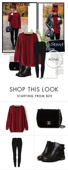 """""""Romwe #4/I"""" by almma-karic ❤ liked on Polyvore featuring Chanel, vintage and romwe"""