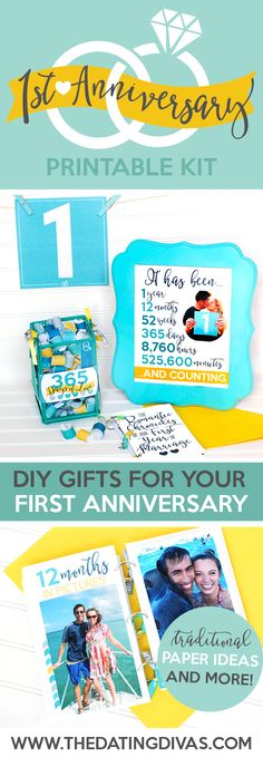 Ideas for wedding anniversary gifts by year anniversary for Traditional 1st anniversary gifts for her
