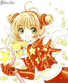 CLAMP, Cardcaptor Sakura, Cardcaptor Sakura Illustrations Collection 3, Kero-chan, Kinomoto Sakura, Star Wand