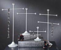 Brushed Silver Necklace & Bracelet Displays  (Jewelry Displays)