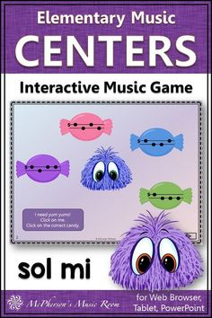 Your grade music students will LOVE this interactive melody game! Perfect for music centers and whole group reinforcing solfege and do mi sol la! Teaching Music, Music Teachers, General Music Classroom, Music Education Activities, Elementary Music Lessons, Music Lesson Plans, Music Games, Students, Second Grade