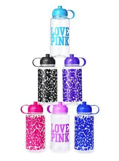The pink one is how I get my water in!!! Drink drink drink!
