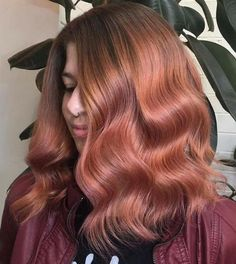 Strawberry Blonde And Pastel Pink Hair