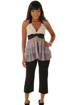 DHStyles Women's Silver Gray Flirty Sheer Ruffled Lace Sleeveless Top - Large #sexytops #clubclothes #sexydresses #fashionablesexydress #sexyshirts #sexyclothes #cocktaildresses #clubwear #cheapsexydresses #clubdresses #cheaptops #partytops #partydress #haltertops #cocktaildresses #partydresses #minidress #nightclubclothes #hotfashion #juniorsclothing #cocktaildress #glamclothing #sexytop #womensclothes #clubbingclothes #juniorsclothes #juniorclothes #trendyclothing #minidresses…