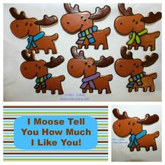 Moose Cookies & Free Printable Cookie Tags by Cristin's Cookies