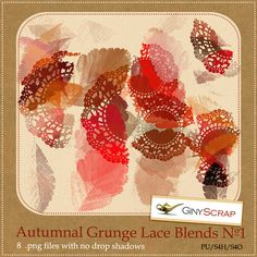 Autumnal Grunge Lace Blends No.1 by Giny Scrap