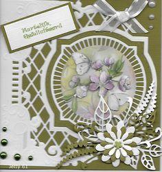 Voorbeeldkaart - een verjaardagskaartje - Categorie: Stansapparaten - Hobbyjournaal uw hobby website Fancy Fold Cards, Folded Cards, Paper Crafts, Diy Crafts, Marianne Design, Homemade Cards, Cardmaking, Birthday Cards, Christmas Cards