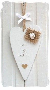 Wedding Mr & Mrs Heart Gift   www.bynicki.co.uk