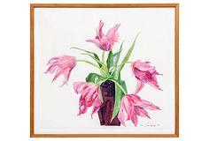 Tulip Watercolor by Lee Guilliatt on OneKingsLane.com