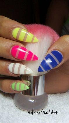 Colorful nails by Valkira - Nail Art Gallery nailartgallery.nailsmag.com by Nails Magazine www.nailsmag.com #nailart