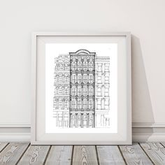 Historic Building Drawing | Original artwork | Architectural drawing | Historic Preservation | Pen & Ink by hand | 8x10 Wall Print by IlerCreative on Etsy https://www.etsy.com/listing/547678021/historic-building-drawing-original