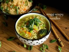 noodle soup recipe, maggi soupy noodle, maggi soup or maggi noodles soup with step by step photo/video. simple soup recipe with maggi noodles & maggi masala Simple Noodle Soup Recipe, Easy Soup Recipes, Noodle Recipes, Bread Recipes, Chicken Recipes, Snack Recipes, Dessert Recipes, Indo Chinese Recipes, Gujarati Recipes