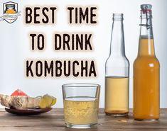 When is the Best Time to Drink Kombucha Tea? How To Brew Kombucha, Kombucha Recipe, Kombucha Tea, Benefits Of Kombucha, Kombucha Brewing, Healthy Soda, Healthy Juices, Healthy Drinks