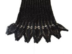 Hand crochet black silver lace ellegant exclusive by MyLaceSpace, $190.00