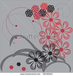 Spring background with flowers of illustration