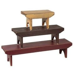 Country Village Shoppe - Bradley Benches - Set of 3, $96.95 (http://www.countryvillageshoppe.com/bradley-benches-set-of-3/)