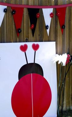 pin the dots on the ladybug  This is for all my ladybug friends like Aslan