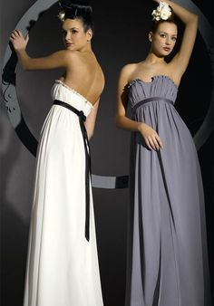 In a different colour, beautiful style for bridesmaids dresses + maternity
