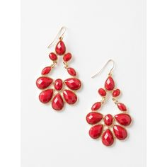Lori's Shoes Gem Chandelier Earring ($14) ❤ liked on Polyvore