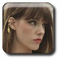 Vintage Simulated Pearl Alloy Leaf Ear Cuff