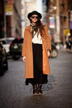 Bright vintage coat to battle rainy-day blues