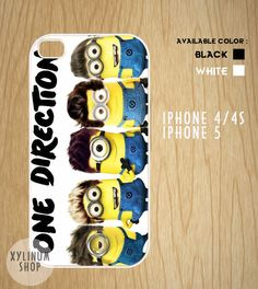 Descpicable Me Minion One Direction Style Case by XYLINUM on Etsy, £10.02 how cute