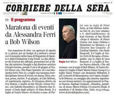 25 aprile 2013 - Corriere della Sera - presentazione dell'edizione 2013 del Festival di Spoleto