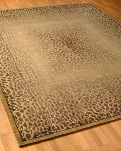 """~ Living a Beautiful Life ~ Master Bedroom """"Leopard Shadow"""" Rug at Horchow."""