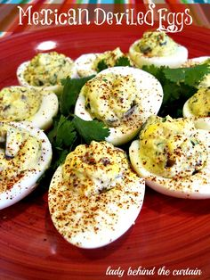 Lady Behind The Curtain - Mexican Deviled Eggs