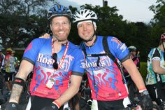 """Guys from Rossie's Bar and Grill participating in # """"the Smart Ride"""" from Miami to Key West"""