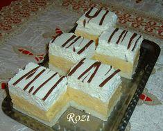 Rozi Erdélyi konyhája: Madártej szelet Sweet Cookies, Baking, Cake, Desserts, Food, Tailgate Desserts, Deserts, Bakken, Kuchen