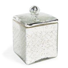 Boîte carrée en verre H 15 cm SILVER