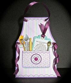 Card Gallery - KITCHEN APRON 3d Tent Card Mini Kit