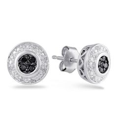 Women's Argentium Round Black and White Diamond Earrings (0.15 cttw, I-J Color, I2 Clarity) Amazon Curated Collection. Save 50 Off!. $134.00. Made in India. All our diamond suppliers certify that to their best knowledge their diamonds are not conflict diamonds